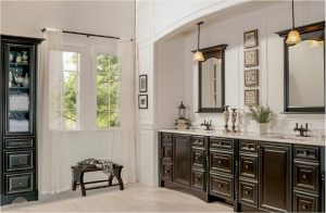 bathroom-cabinets-in-calhoun -ga-black-shiny-vanity