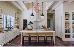 kitchen-cabinets-in-calhoun-ga-cream-kitchen-blush-island-lime-seat cushions