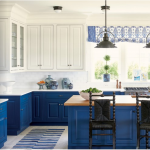 kitchen-design-in-calhoun-ga-cobalt-blue-base-cabinets-ivory-top-cabinets-butcher-block-island