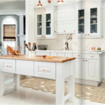 white-kitchen-cabinets-island-Calhoun -ga